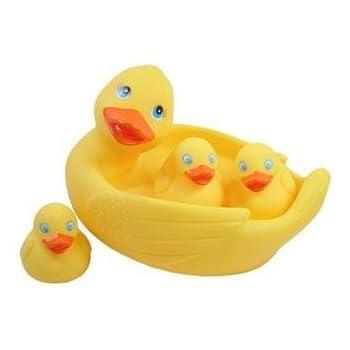 Rubber Duck Family Bath Set (Set Of 4)   Floating Bath Tub Toy (Set Of 4)