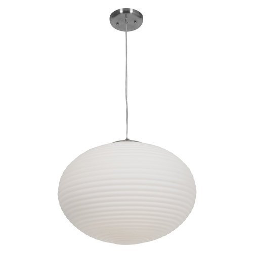 Access Lighting 50181-BS/OPL Callisto Three Light Pendant, Brushed Steel Finish with Opal Glass Shade by Access Lighting