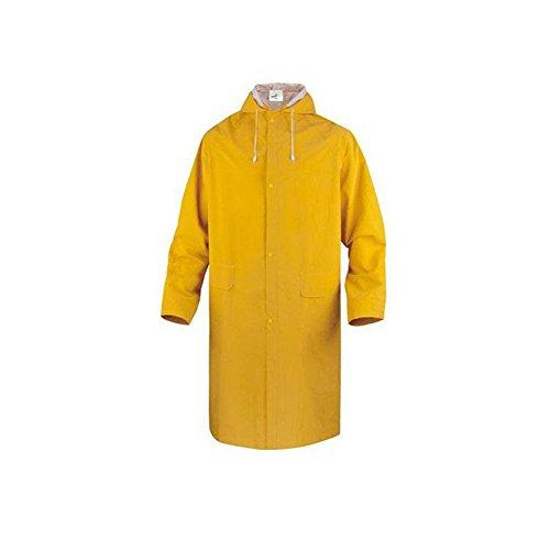 Delta Plus Waterproof Rain Coat Mac Hooded Long Jacket Stud fasten Pockets MA305