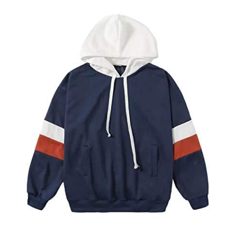 URIBAKE Women Long Sleeve Casual Hooded Sweatshirt Pullover Top ()