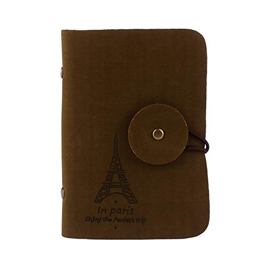 Brown Dark Retro Business D Wallet Case ID Eiffel Credit JESPER Holder Bag Tower Card wOSgqAB