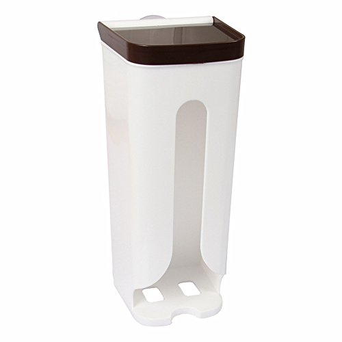 FIN86 Plastic Storage Box, Organizer Garbage Bags Collection Box, Convenient to Use for Kitchen Bathroom -