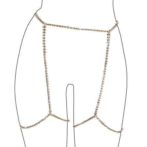 MineSign Diamond Sexy Belly Chain Retro Waist Belt Chains Body Jewelry for Summer Beach Bikini Swimsuit Party (Gold)