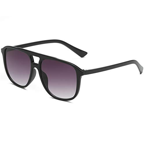 Yucode Unisex Square Classic Polarized Anti Eyestrai UV Protection Semi-Rimless Rimmed Sunglasses for Cycling