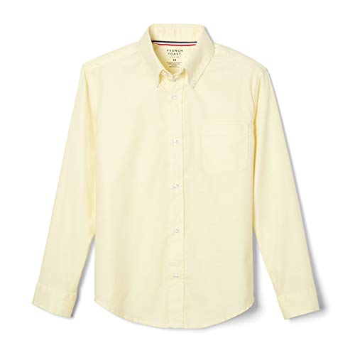 - French Toast Little Boys' Long Sleeve Oxford Dress Shirt, Yellow, 6