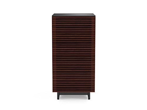 - BDI 8172 CWL Corridor Audio Tower & Stereo Cabinet, Chocolate Stained Walnut