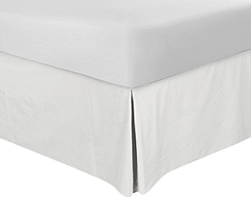 Bedskirt King 16 Inch Drop White Split Corner Bedskirt King 78X80 Size Iron Easy Wrinkle Free And Fade Resistance 600 Thread Count Quality With 100% Egyptian Cotton (King 78X80 White Solid)