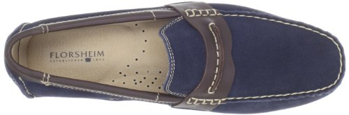 Smooth Driving Penny Navy Roadster Leather Florsheim Men's Suede Brown w0qztEaP
