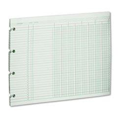 WLJG108 Wilson Jones® Sheet,8col,9.25x11.88,gn