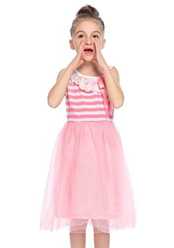 Arshiner Girls Sleeveless One Shoulder Princess Dress Tulle Sundress, 130(Age for 7-8Years), (Perfectly Princess Tutu Dress)