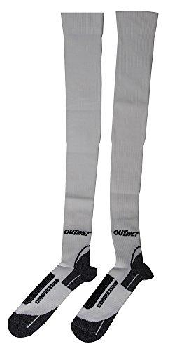 LC outwet mid cut socquettes de compression extra long Blanc Blanc 39-42