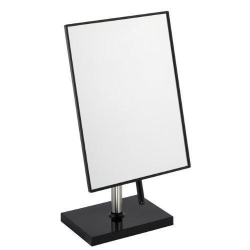Free Standing Bathroom or Dressing Table Mirror 22cm x 16cm Black FMG 927b
