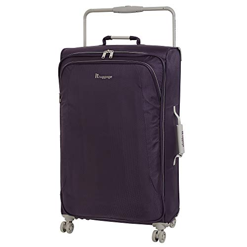 it luggage World's Lightest New York Softside 8 Wheel Spinner, Purple Pennant With Cobblestone Trim, Checked-X-Large 32…
