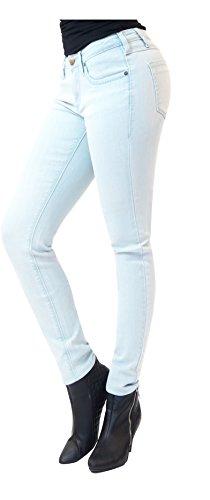 Womens Super comfy stretch denim 5 Pocket Jean P22888SKX BLEACH18