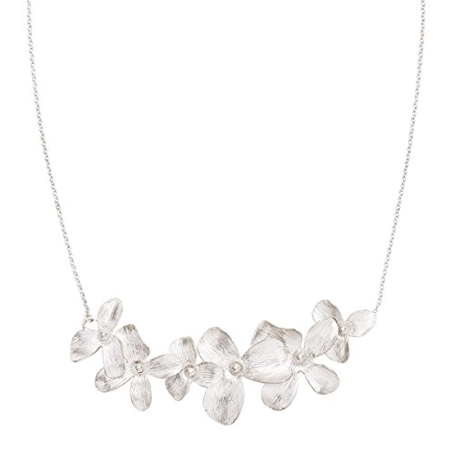 Silpada 'Garden Whimsy' Flower Link Necklace in Sterling (Sterling Silver Flower Link Necklace)