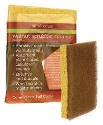 Full Circle Home Sponge Walnut Scrubber 2 Ct Case_6 by Full Circle Home