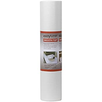 Duck Brand Smooth Top EasyLiner Non-Adhesive Shelf Liner for Kitchen Cabinets, 20-Inch x 24-Feet, White, 281872