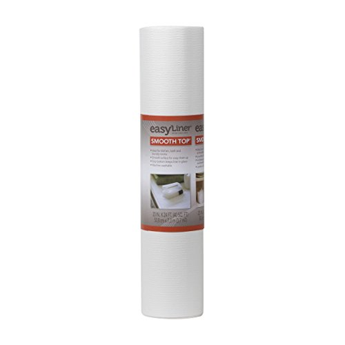 Duck Brand Smooth Top EasyLiner Non-Adhesive Shelf Liner for Kitchen Cabinets, 20-Inch x 24-Feet, White, 281872 (Cabinets Brownstone)