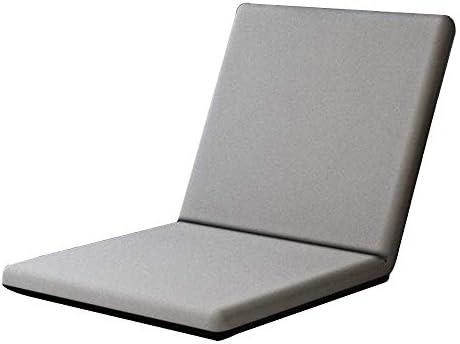 寮の部屋バルコニーのための怠惰なソファリムーバブルと洗える小さなベッドルームソファ折りたたみアームチェア6速調整張り出し窓チェア (Color : Creamy-white)