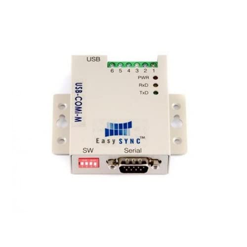 1 port USB to RS232/422/485 Adapter, DIN Rail Option, Metal Case