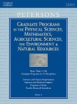 Grad Guides BK4: Physical Scis & Math/Ag Scis 2006 (Peterson's Graduate and Professional Programs in the Physical Sciences, Mathematics,) (PETERSON'S ... THE ENVIRONMENT & NATURAL RESOURCES)
