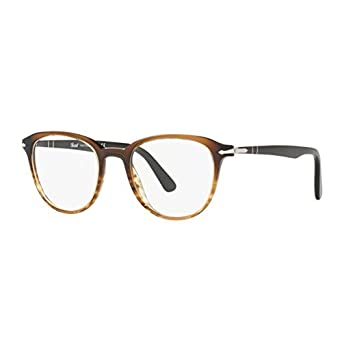 26a51ea4689e8 Image Unavailable. Image not available for. Color  Persol Men s PO3176V  Eyeglasses Black Gradient Stripped Brown 48mm