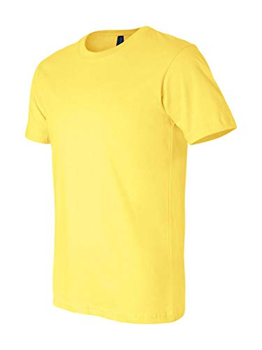 Bella + Canvas Unisex Jersey Short-Sleeve T-Shirt L YELLOW