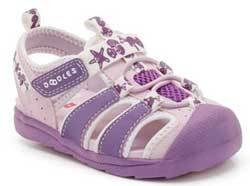 9d66155f9 Image Unavailable. Image not available for. Colour  Clarks Girls Doodles  Beach Fun Lilac Sandals
