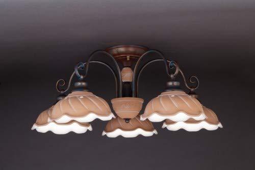 イタリア製 B07N7X3QHJ/陶器セード 5灯シーリングシャンデリア テラコッタ テラコッタ TER015-H5 TER015-H5 B07N7X3QHJ, スチールラックのキタジマ:cdbfe61f --- m2cweb.com