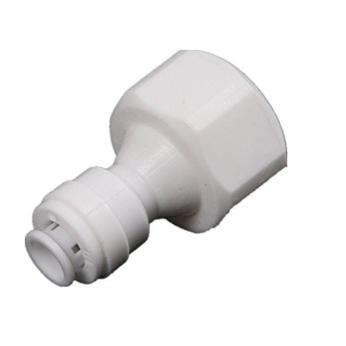 Driak 3pcs 6.5&6.5mm Caliber 1/4inch Diameter Straight White Plastic Pipe Connectors with Quick Connect for Water Filter