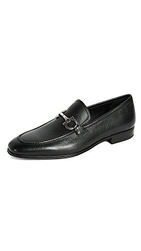 Salvatore Ferragamo Men's Flori Bit Loafers, Black, 9.0 D M US