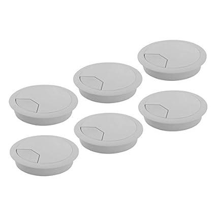 Amazon.com: DealMux Plástico Computador Mesa Redonda Grommet ...