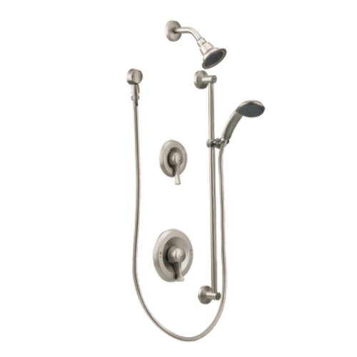 Moen Commercial M-DURA PosiTemp Showerhead & Handheld Showerhead without Valve, Classic Brushed Nickel (T8342CBN) ()