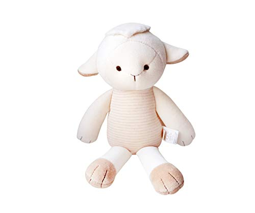Blessnature] 100% Organic Stuffed Animal, Baby Doll, Tri-Colored Plush Toy (Jesus The Lamb)_12in ()