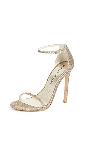 Stuart Weitzman Women's Nudist, Platinum, 7 M US