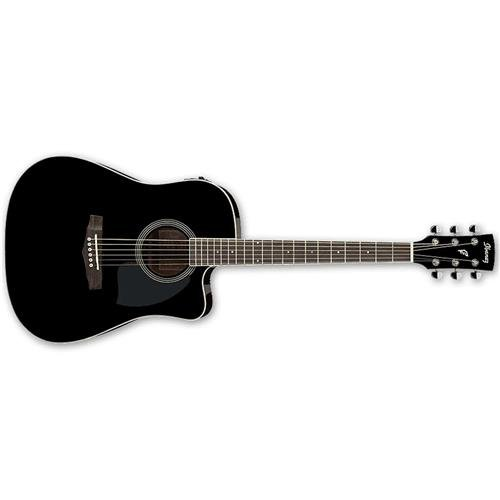 Ibanez PF Series PF15ECE Dreadnought Cutaway Acoustic-Electric Cutaway Guitar Gloss ()