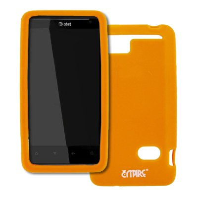 EMPIRE Orange Silicone Skin Case Cover for AT&T HTC Holiday