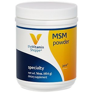The Vitamin Shoppe MSM Powder 1,000MG (Methylsulfonylmethane), Supports Joint Health Function (16 Ounces Powder)