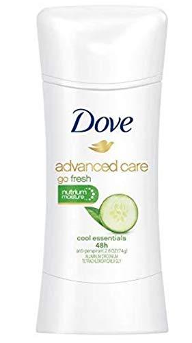 Dove Ultimate go fresh Cool Essentials Anti-perspirant/Deodorant, 2.6 Ounce (Pack of 4) - Cucumber Dove Fresh Go