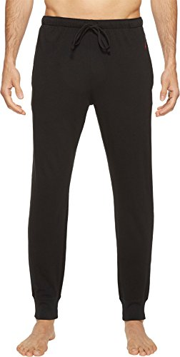 - Polo Ralph Lauren Men's Relaxed Fit Jersey Jogger Pants Polo Black/Red Polo Player Large