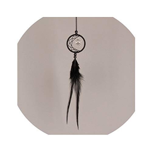 I'll NEVER BE HER Vintage Mini Dreamcatcher with Skeleton Car Decor Pendant Indian Dream Catchers Wind Chimes Halloween Decoration Gifts Bw09939,Black]()