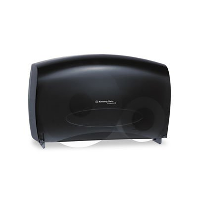 Kimberly-Clark Professional 09551 Cored JRT Jumbo Combo Tissue Dispenser, 20 2/5w x 5 4/5d x 13 1/10h, Smoke/Gray