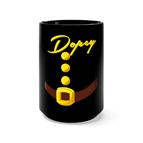 Dopey Dwarf Halloween Costume Green Party Favorite Drink Mug Cups Ceramic 15oz Black]()