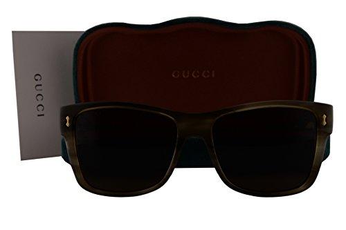 Gucci GG0052S Sunglasses Army Green Havana w/Green Lens 003 GG - Gucci Glasses Frames Amazon