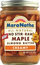 Maranatha All Natural, No Stir, Raw, Maple Almond Butter, Creamy 12 Oz Jars, 3 Pack