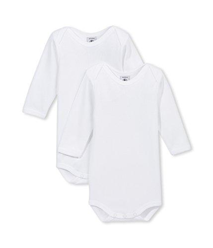 - Petit Bateau Unisex Baby 2 Pack Bodysuits - White - 24 Months