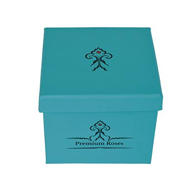 Premium Roses | Model Turquoise| Real Roses That Last 365 Days | Roses in a Box| Fresh Flowers (Blue Box, Medium) by Premium Roses (Image #2)