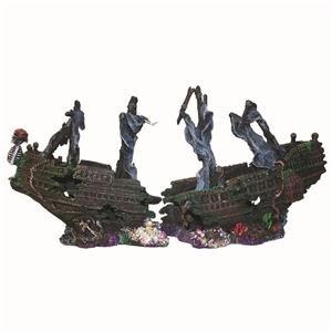 Aquarium Shipwreck The Black Pearl Large Fish Tank Sunken Boat