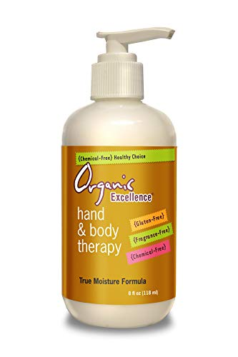 Organic Excellence Hand & Body Therapy Lotion - 8 Oz. (118 Ml) Pump Bottle – Rich, Natural Moisturizer For Daily Use Made with Shea Butter - Organics Body Hand Lotion