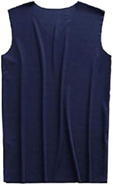 メンズシームレス薄いヴィー通気性ソリッドカラー快適なタンクトップTシャツ